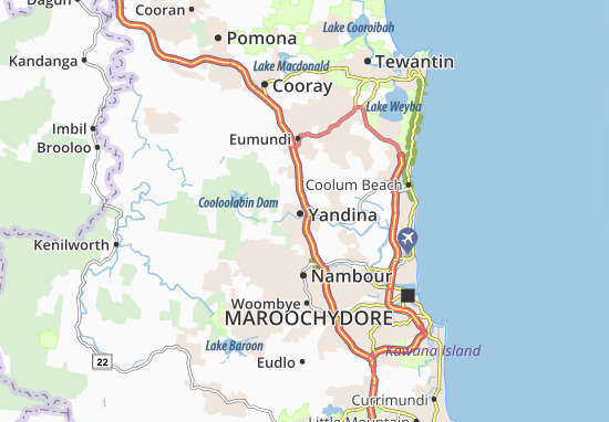 Yandina Map