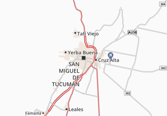 Mapa Plano San Miguel de Tucumán