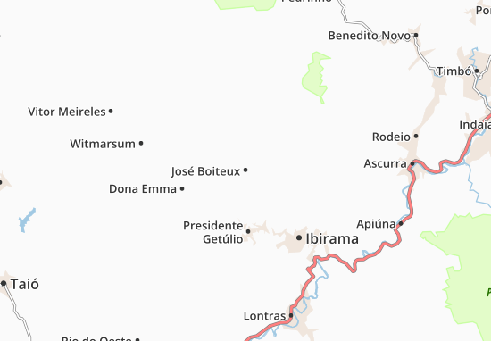 José Boiteux Map
