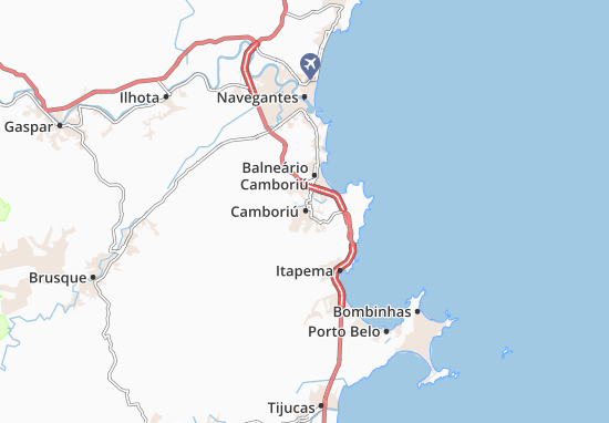 Mapa Plano Camboriú