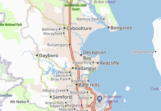 Kaart Plattegrond Deception Bay