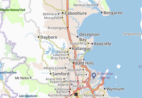 Kaart Plattegrond Kallangur