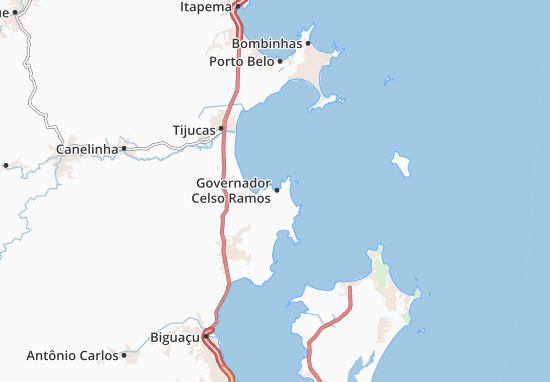 Governador Celso Ramos Map