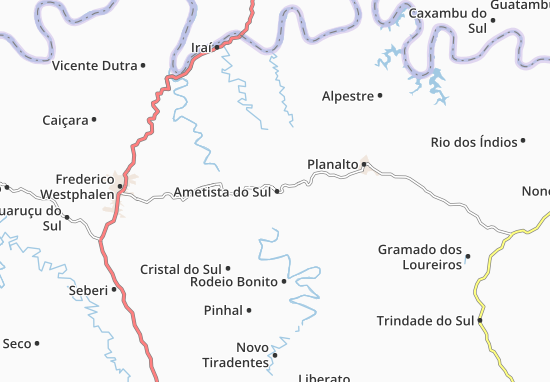 Carte-Plan Ametista do Sul