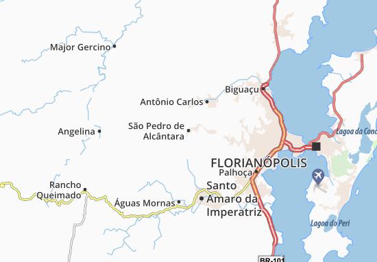 Carte-Plan São Pedro de Alcântara
