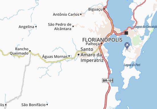 Santo Amaro da Imperatriz Map