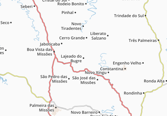 Mappe-Piantine Lajeado do Bugre
