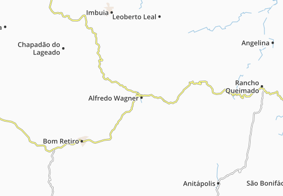 Carte-Plan Alfredo Wagner