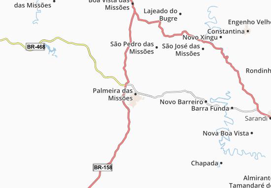 Carte-Plan Palmeira das Missões