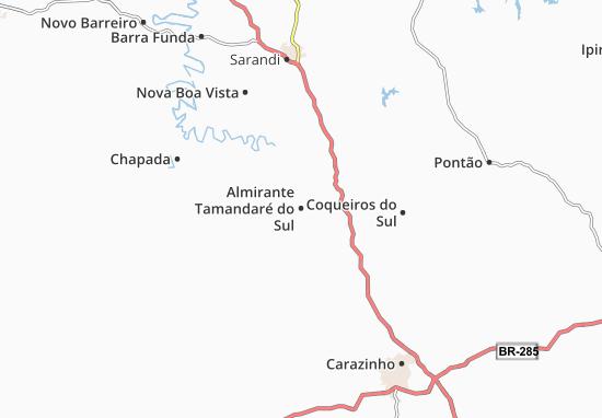 Carte-Plan Almirante Tamandaré do Sul