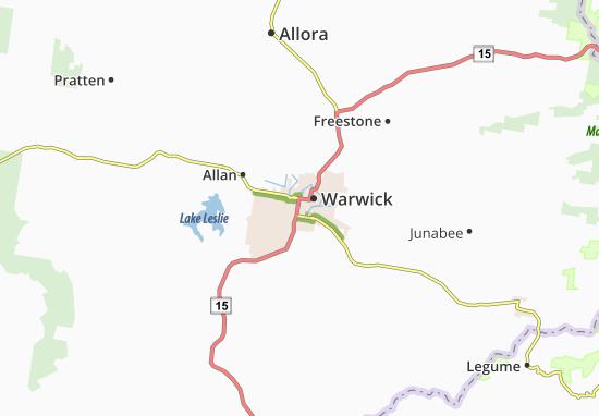 Carte-Plan Warwick