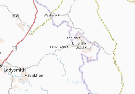 Ekuvukeni Map