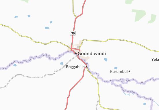 Carte-Plan Goondiwindi