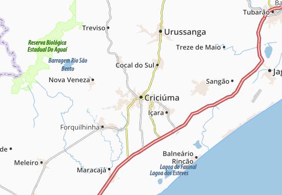 Criciúma Map