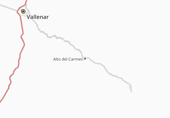 Carte-Plan Alto del Carmen