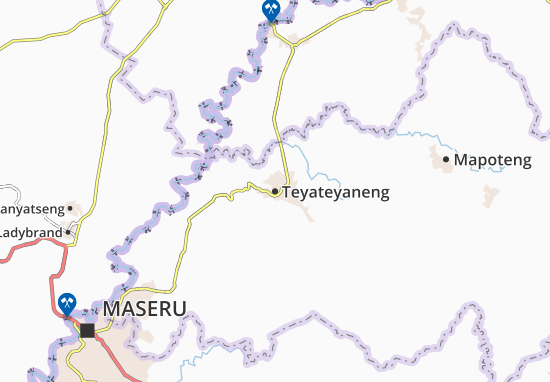 Teyateyaneng Map