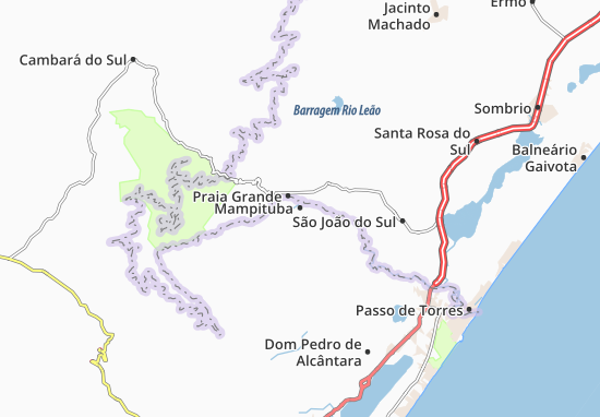 Mampituba Map