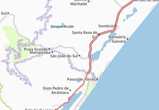 São João do Sul Map