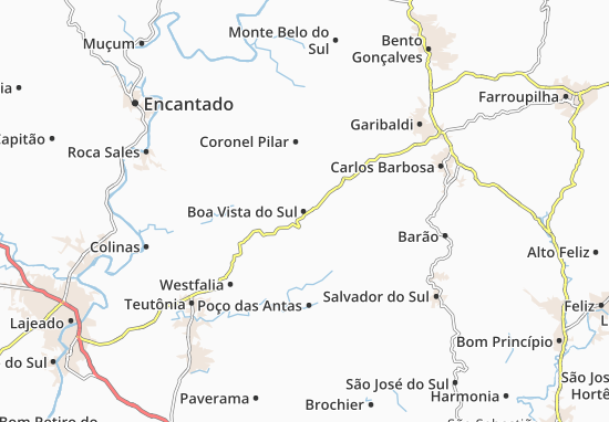 Carte-Plan Boa Vista do Sul