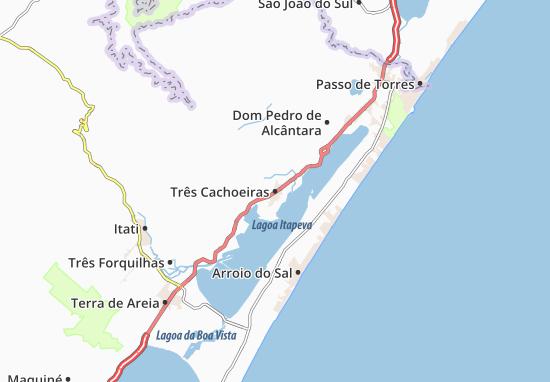 Três Cachoeiras Map
