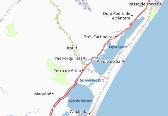 Três Forquilhas Map