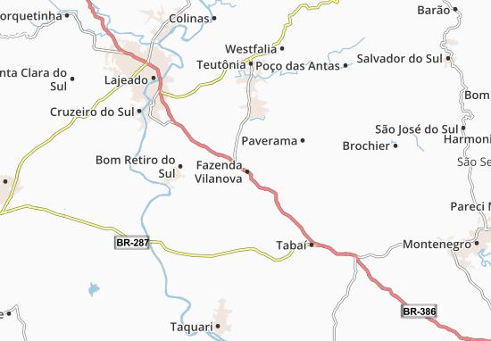 Carte-Plan Fazenda Vilanova