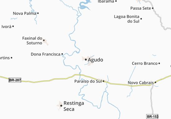Kaart Plattegrond Agudo