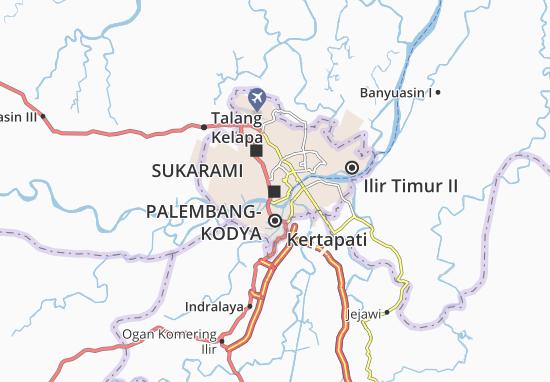 Carte-Plan Palembang-Kodya