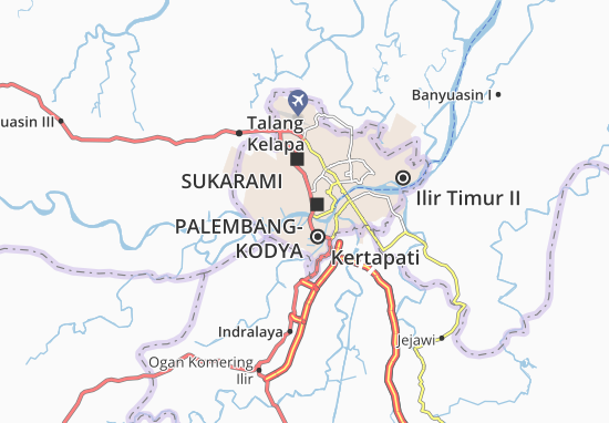 Ilir Barat II Map