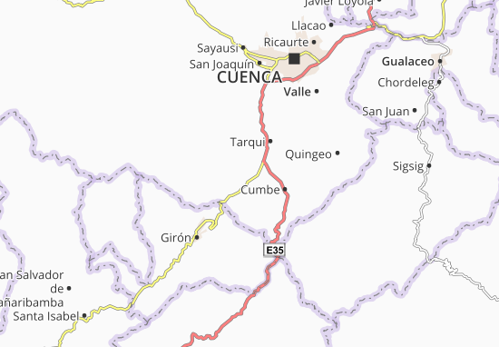 Karte Stadtplan Victoria del Portete