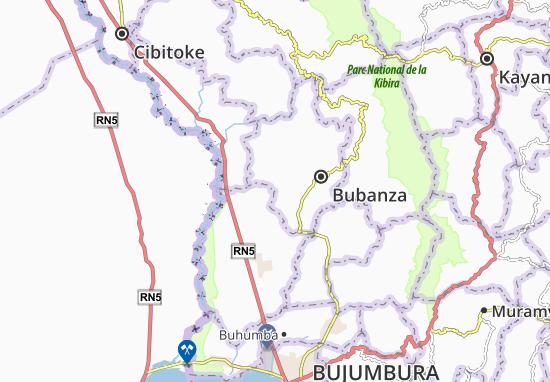 Mapa Plano Buvyuko