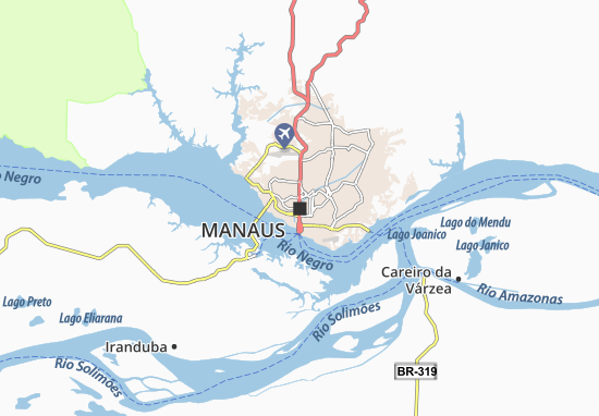 Manaus Map: Detailed maps for the city of Manaus - ViaMichelin