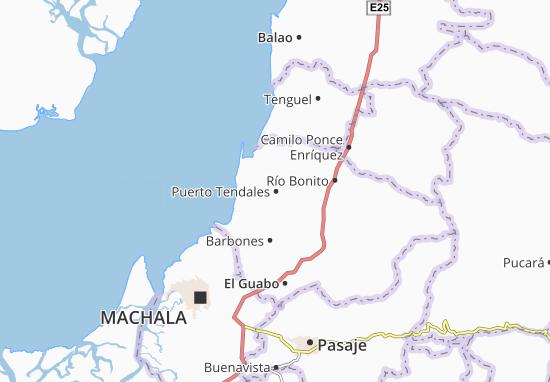 Kaart Plattegrond Puerto Tendales