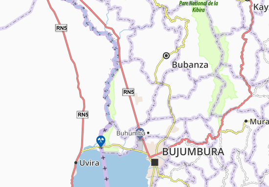Kaart Plattegrond Gihanga