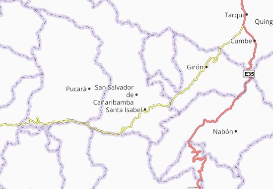 Karte Stadtplan San Salvador de Cañaribamba