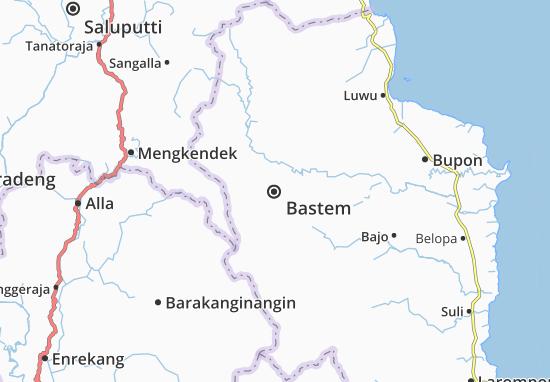 Kaart Plattegrond Bastem