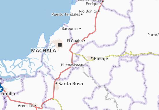 Kaart Plattegrond La Peaña