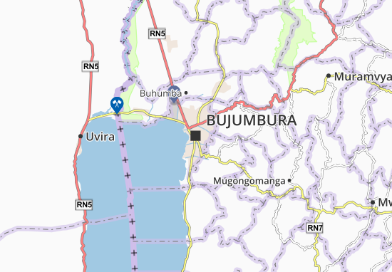 Bujumbura Map Detailed Maps For The City Of Bujumbura ViaMichelin - bujumbura map