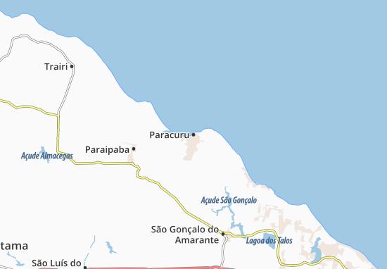 Kaart Plattegrond Paracuru