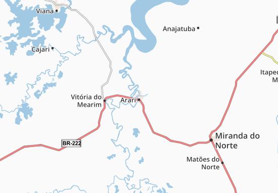 Carte-Plan Arari