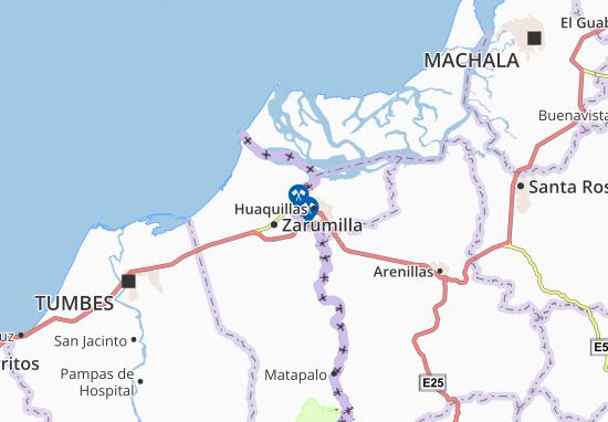 Aguas Verdes Map