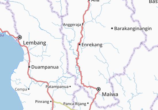 Kaart Plattegrond Enrekang