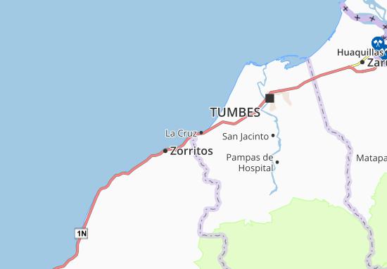 La Cruz Map