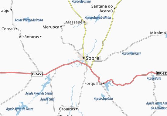 Map Of Sobral Michelin Sobral Map ViaMichelin - Sobral map