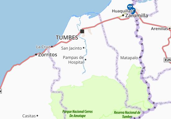 Pampas de Hospital Map