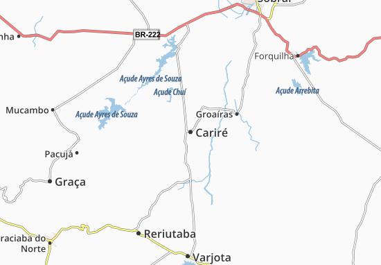 Kaart Plattegrond Cariré