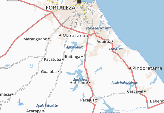 Itaitinga Map