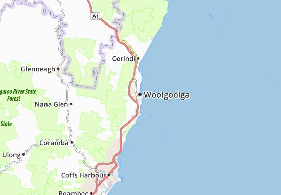 Woolgoolga Map