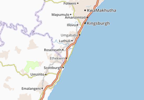 Umkomaas Map