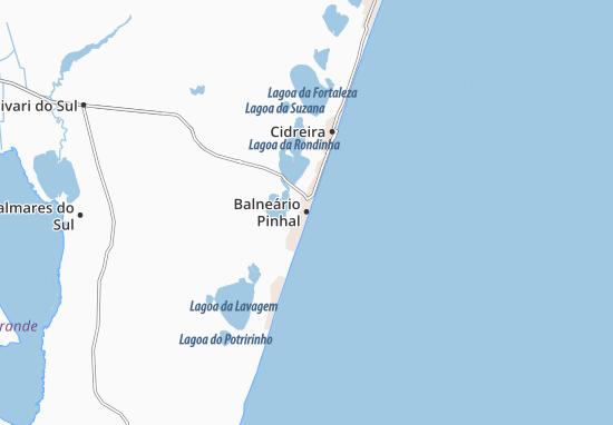 Balneário Pinhal Map
